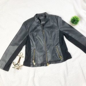 Ellen Tracy Women's Leather Jacket Size L